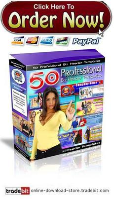 Pay for Professional Graphics Header Templates