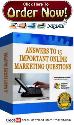 Pay for Answers To 15 Important Online Marketing Questions