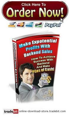 Pay for Make Exponential Profits with Backend Sales