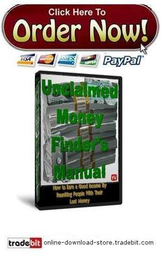 Pay for Unclaimed Money Finders Manual