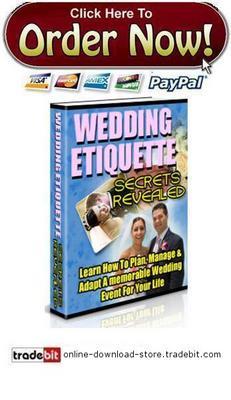 Pay for Wedding Etiquette Secrets Revealed