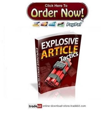Pay for Explosive Article Tactics