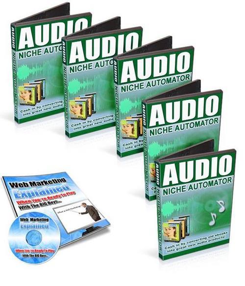 "Pay for ""New""Audio Niche Automator +""BONUS audios""  (99MB)/MRR"