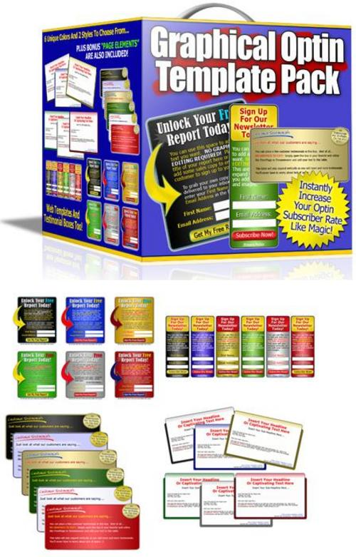Pay for Graphics Optin Template Pack Product (with Mrr)