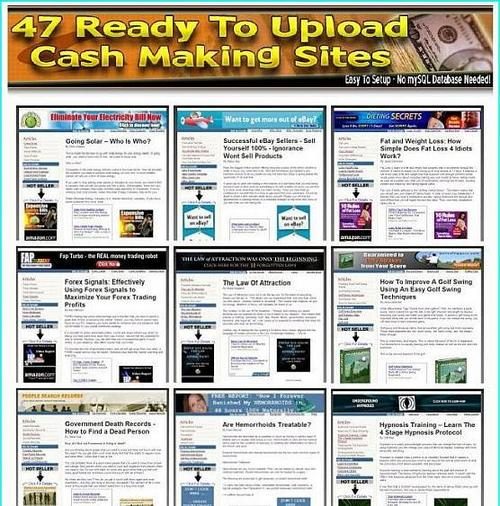 Pay for 47 Ready To Upload Cash Making Sites