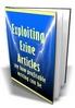 Thumbnail Exploiting Ezine Articles