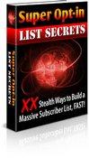 Thumbnail Super Opt-in List Secrets
