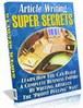 Thumbnail Article Writing Super Secrets