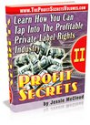 Thumbnail Profit Secrets - Private Label Rights Profits