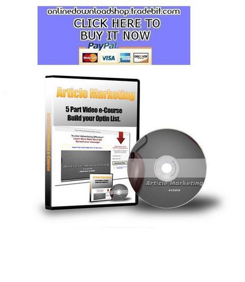 Pay for Article Marketing Video Course