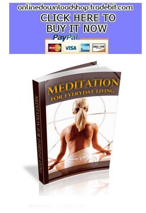 Pay for Meditation for Everyday Living