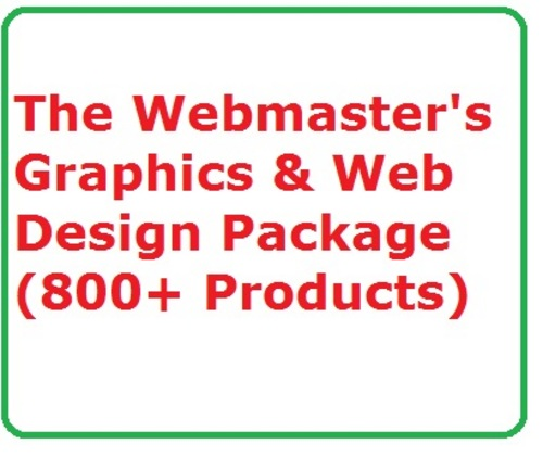 Pay for The Webmasters Graphics & Web Design Package  (800+ item)