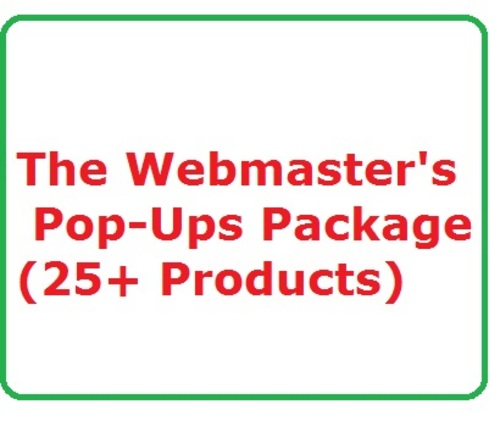 Pay for Webmaster´s Pop-Ups Package Work at Home, Home Jobs, Make Money Online Websites