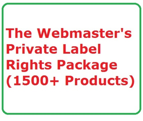 Pay for The Webmasters Private Label Rights Package