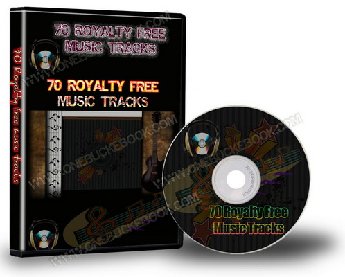 Pay for 70 Royalty Free Music Tracks Package (PLR)