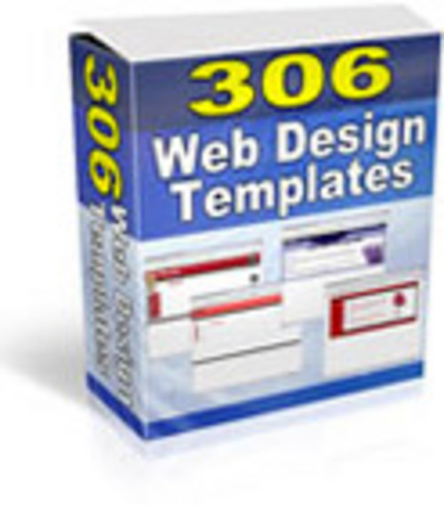 Pay for 306 Web Design Templates PLR