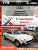 Thumbnail Fiat 124 Spider 1983 Factory Service Repair Manual PDF.zip