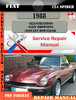 Thumbnail Fiat 124 Spider 1988 Factory Service Repair Manual PDF.zip