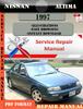 Thumbnail Nissan Altima 1997 Factory Service Repair Manual PDF