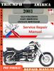 Thumbnail Triumph America 2003 Digital Repair Manual