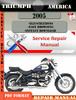 Thumbnail Triumph America 2005 Digital Repair Manual