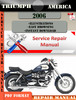 Thumbnail Triumph America 2006 Digital Repair Manual