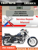 Thumbnail Triumph America 2007 Digital Repair Manual