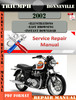 Thumbnail Triumph Bonneville 2002 Digital Repair Manual