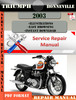 Thumbnail Triumph Bonneville 2003 Digital Repair Manual