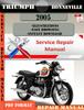 Thumbnail Triumph Bonneville 2005 Digital Repair Manual