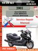 Thumbnail Suzuki AN 650 Burgman 2003 Digital Service Repair Manual