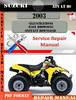 Thumbnail Suzuki ATV LT 80 2003 Digital Factory Service Repair Manual