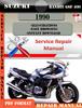 Thumbnail Suzuki Bandit GSF 400 1990 Digital Service Repair Manual