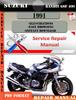 Thumbnail Suzuki Bandit GSF 400 1991 Digital Factory Service Repair Ma