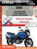 Thumbnail Suzuki DL 650 V-Storm 2006 Digital Service Repair Manual