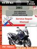 Thumbnail Suzuki DL 1000 V-Strom 2003 Digital Service Repair Manual