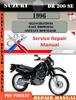 Thumbnail Suzuki DR 200 SE 1996 Digital Service Repair Manual