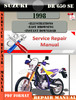 Thumbnail Suzuki DR 650 SE 1998 Digital Service Repair Manual