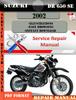 Thumbnail Suzuki DR 650 SE 2002 Digital Service Repair Manual