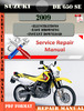 Thumbnail Suzuki DR 650 SE 2009 Digital Service Repair Manual