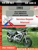 Thumbnail Suzuki GS 500 E 1992 Digital Factory Service Repair Manual