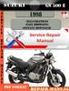 Thumbnail Suzuki GS 500 E 1998 Digital Factory Service Repair Manual