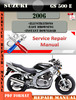 Thumbnail Suzuki GS 500 E 2006 Digital Factory Service Repair Manual