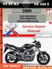 Thumbnail Suzuki GS 500 E 2009 Digital Factory Service Repair Manual