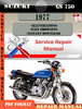 Thumbnail Suzuki GS 750 1977 Digital Factory Service Repair Manual