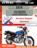 Thumbnail Suzuki GS 750 1979 Digital Factory Service Repair Manual
