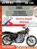 Thumbnail Suzuki GS 750 1985 Digital Factory Service Repair Manual