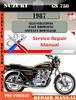 Thumbnail Suzuki GS 750 1987 Digital Factory Service Repair Manual