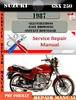 Thumbnail Suzuki GSX 250 1987 Digital Factory Service Repair Manual