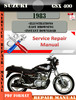 Thumbnail Suzuki GSX 400 1983 Digital Factory Service Repair Manual